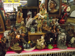 Unique Collectibles Dearborn MI - Dixieland Flea Market - Dave-Watson-Native-American-Indians