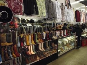 Sports Memorabilia Flint MI - Dixieland Flea Market - Garibaldi-Manuel-Cowboy-Boots-Shirts