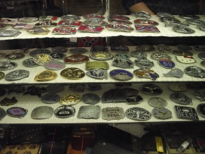 Vintage Clothes Commerce Township MI - Dixieland Flea Market - Garys-Western-Belt-Buckles